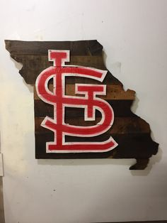 St. Louis Cardinals Pallet Wood Wall Sign by MacDonaldsCreations