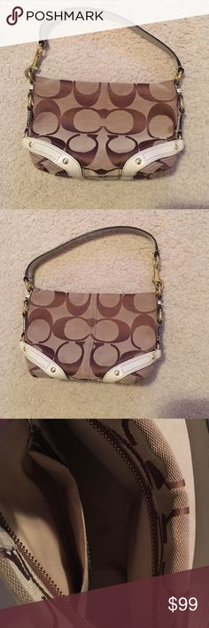 Coach purse Authentic coach purse, small marks from normal use inside. Smaller purse Coach Bags Shoulder Bags