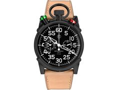 CT Scuderia Corsa - Black IP Stainless Steel and Natural Genuine Leather Strap Fine Watches, Cool Watches, Watches For Men, Amazing Watches, Men's Watches, Hermes, Color Beige, Colour Black, Watch Sale