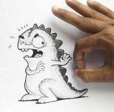 Quando um cartunista adota uma ilustração como animal de estimação - Já imaginou ter uma ilustração como animal de estimação? Conheça o Drogo, um simpático dragão ilustrado que interage com o ambiente em sua volta (e principalmente com seus donos).