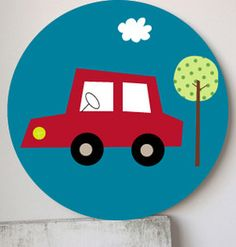 Image of Cuadro infantil Bagnole- wall art