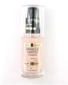 Max Factor Miracle Match Blur & Nourish Foundation #maxfactor #foundation #beauty #makeup