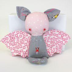 """Caroline the Bat 11"""" handmade doll"""