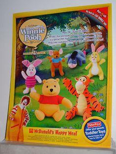 2002 McDonald's Crew Info Card Disney Winnie the Pooh