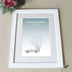 Vintage Convertible with Balloons Signature Certificate