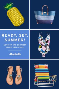 newest b75ab 34e0b Hello, summer! Save on the sunniest vacay essentials at Marshalls. Get  ready for