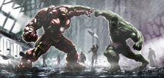 Iron Man Hulkbuster Vs Hulk & Alejandria