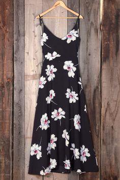 Motivi floreali 2016: Cupshe End of the Night Blooming Slip Maxi Dress