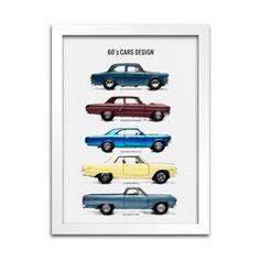 Quadro Decorativo - Carros Anos 60 - Machine Cult | A loja das camisetas de carro e moto