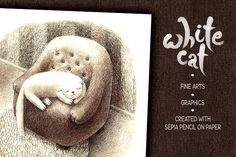 White Cat by mazhuzha on @creativemarket
