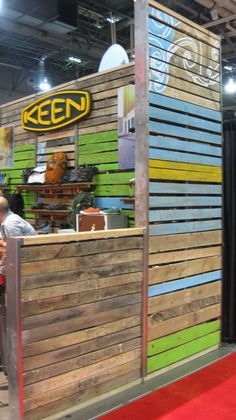 trade show booth idea wood pallets - Google Search