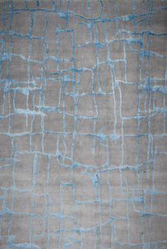 Contemporary rug / handmade / silk / patterned COLOMBO BLUE GREY Edition Bougainville