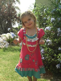 Emily in her Hoolies dress. Looking beautiful Grandchildren, Models, Pure Products, Summer Dresses, Cute, Kids, Outfits, Beautiful, Fashion
