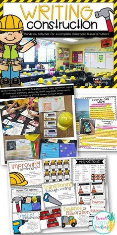 'Set The Stage To Engage' with this writing classroom transformation! #4thGrade #WritingResources #ClassroomTransformation #EngagingResources