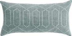 DwellStudio Diamond Trellis Azure Pillow. Simply pretty.