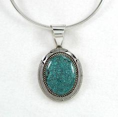 Native American Sterling Silver Turqouise Pendant