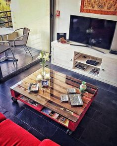 pallet coffee and tv tables