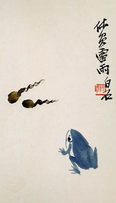 Qi Baishi. 齊白石 - 設色鱼虫册选