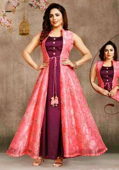 Beautiful Dresses Images For me Shiva Girls Party Wear Indian Dresses, Indian Gowns Dresses, Dress Indian Style, Indian Dresses Online, Flapper Dresses, Sleeves Designs For Dresses, Dress Neck Designs, Neck Designs For Suits, Long Gown Dress
