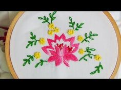 Hand Embroidery: Lotus flower - YouTube