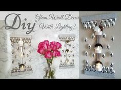 Diy Glam Wall Decor with Minimal Lighting! This DIY Wall Decor allows you Enjoy Minimal Lighting And at thesame time, a Glam Wall Decor. The DIY Wall Lighting is a Great Way to add extra Glam where it's needed. It is a Wall Decor That is Simple to Diy Wall Decor For Bedroom, Diy Wall Art, Diy Mirror, Wall Mirror, Mirror Candle, Mirror Shelves, Wall Sconces, Floating Shelves, Diy Wall Planter