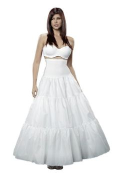 Merry Modes Scarlett O'Hara Petticoat Gripper Waist Slip 2415GW-Small/Medium-White >>> Check this awesome product by going to the link at the image.