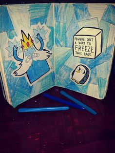 Wreck This Journal Inspiration - #AdventureTime (Or Elsa from frozen inspired)