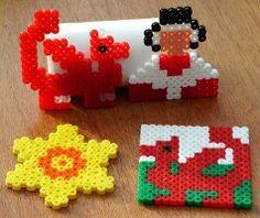 Welsh Symbols using Fuse Beads