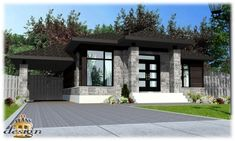 House plans modern bungalow beds 50 New Ideas Bungalow House Design, Modern House Design, Modern Bungalow House Plans, Best House Plans, Small House Plans, Architectural Design House Plans, Architecture Design, One Level Homes, Contemporary Style Homes