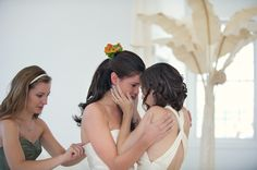 Breathtaking lesbian wedding. Gives me chills just witnessing this moment. <3