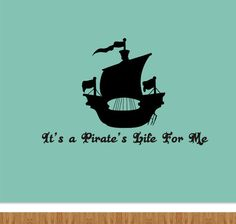 Pirate Wall Vinyl Decal  Boys Room Decal  It's A by WackyWalls, $15.00