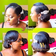 Nigerian wedding black bridal hair ideas and inspiration 13