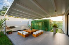 Image 3 of 15 from gallery of House / Riofrio+Rodrigo Arquitectos. Photograph by Fernando Barranzuela Ramírez Outdoor Rooms, Outdoor Living, Outdoor Furniture Sets, Outdoor Decor, Architecture Details, Interior Architecture, Interior Design, Textured Wall Panels, House Furniture Design
