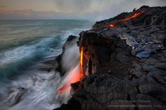 Hawaiʻi Volcanoes National Park (USA). 'Set on the hillside of the world's tallest volcano, this national park will remind you that nature is very much alive. An extensive network of trails encompasses lava flows, steam vents, lava tubes and, if you wish, wild backcountry. The highlight is the stunning panorama of Halemaʻumaʻu, an enormous crater spewing tons of ash into the sky.' http://www.lonelyplanet.com/usa/hawaii/hawaii-volcanoes-national-park/sights/other/hawaii-volcanoes-national