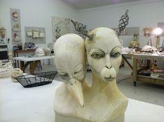 Inspiration at Lisa Clague's Studio Clay People, Unusual Animals, Lisa, Sculpture Clay, Paper Clay, Ceramic Clay, Tile Art, Figurative Art, Art Dolls