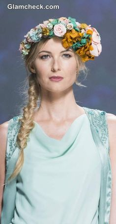 Each bridal headgear was unique in itself almost having a character of its own. 2015 Trends, Bridal Hair Accessories, Headgear, Every Woman, Flowers In Hair, Bridal Collection, Flower Hairstyles, Wedding Styles, Womens Fashion
