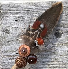 Feather & Button Buttonhole / Boutonniere / Corsage - Rustic Boho Copper Brown Orange - Country Wedding - Day at the Races - Customisable Orange Boutonniere, Feather Boutonniere, Rustic Boutonniere, Boutonnieres, Bride Bouquets, Bridesmaid Bouquet, Rustic Wedding, Wedding Day, Orange Country