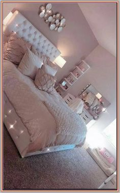 38 cozy home decorating ideas for girls bedrooms 14 Room Decor Bedroom Bedrooms COZY Decorating girls Home Ideas Simple Bedroom Design, Girl Bedroom Designs, Room Ideas Bedroom, Home Bedroom, Master Bedroom, Room Decor Bedroom Rose Gold, Girl Room Decor, Master Suite, Bedroom Decor For Teen Girls Dream Rooms