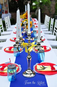 Stunning Madeline Birthday Party table!  See more party ideas at CatchMyParty.com!