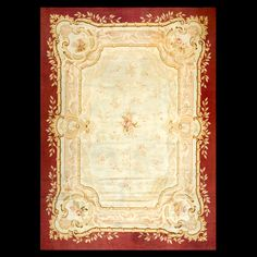 Stock Id: #40-266    General Rug Type:       European    Specific Rug Type:       Aubusson    Circa: 1880    Color: Ivory    Origin: France    Width: 9' 7'' ( 292.1 cm )    Length: 13' 4'' ( 406.4 cm )