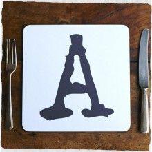 Alphabet Placemats - Dark Grey
