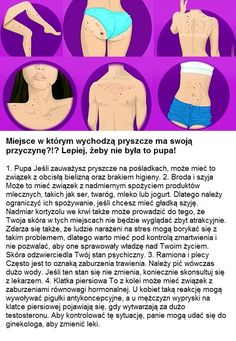 Miejsce w którym wychodzą pryszcze ma swoją przyczynę?!? Lepiej, żeby nie była to pupa! Skin Care, Face Care, Life Hacks, Beauty Hacks, Education, Wellness, Food And Drink, Diy Crafts, Exercise