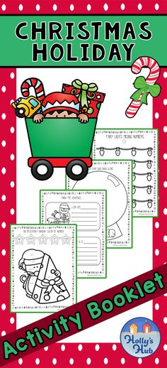This fun- filled activity booklet is ideal to fill in the gaps at the end of the day or those few minutes before recess! This is everything you need to keep your kiddies busy this holiday season!   There are math reading, writing and game fun in this booklet. Perfect for K-Grade!  #christmasactivities #christmasideasforkids #christmasbooklet #holidays #kindergarten #grade1 #grade2 #elementary #primary #ks1 #ks2