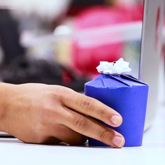 How To Turn A Paper Cup Into A Gift Box