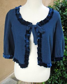 Women's Medium Upcycled Bolero Sweater  by EchoClothingCompany, $30.00