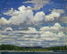 """Thomas John """"Tom"""" Thomson(1877ー1917 an influential Canadian artist of the early 20th century)「Summer Day」(1915)"""