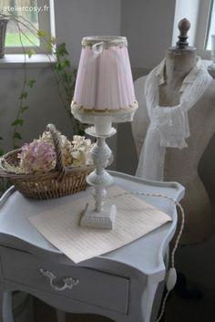 Petite lampe ancienne  Brocante de charme atelier cosy.fr