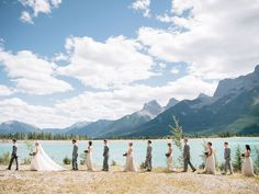 Sorry, but this photo just makes us want to move to Alberta and get married in the mountains.