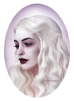 Anne Hathaway as the White Queen from Alice in Wonderland(2010) You might like: Alice in Wonderlandand the White Queen are property of their respective owners. The reference photo...