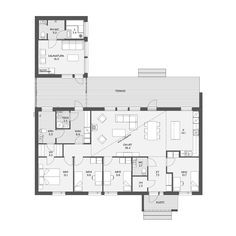 House Floor Plans, Planer, My House, Beach House, Sweet Home, Cottage, Layout, House Design, How To Plan